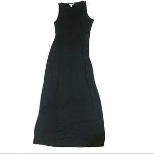Boston Proper front slit maxi dress black